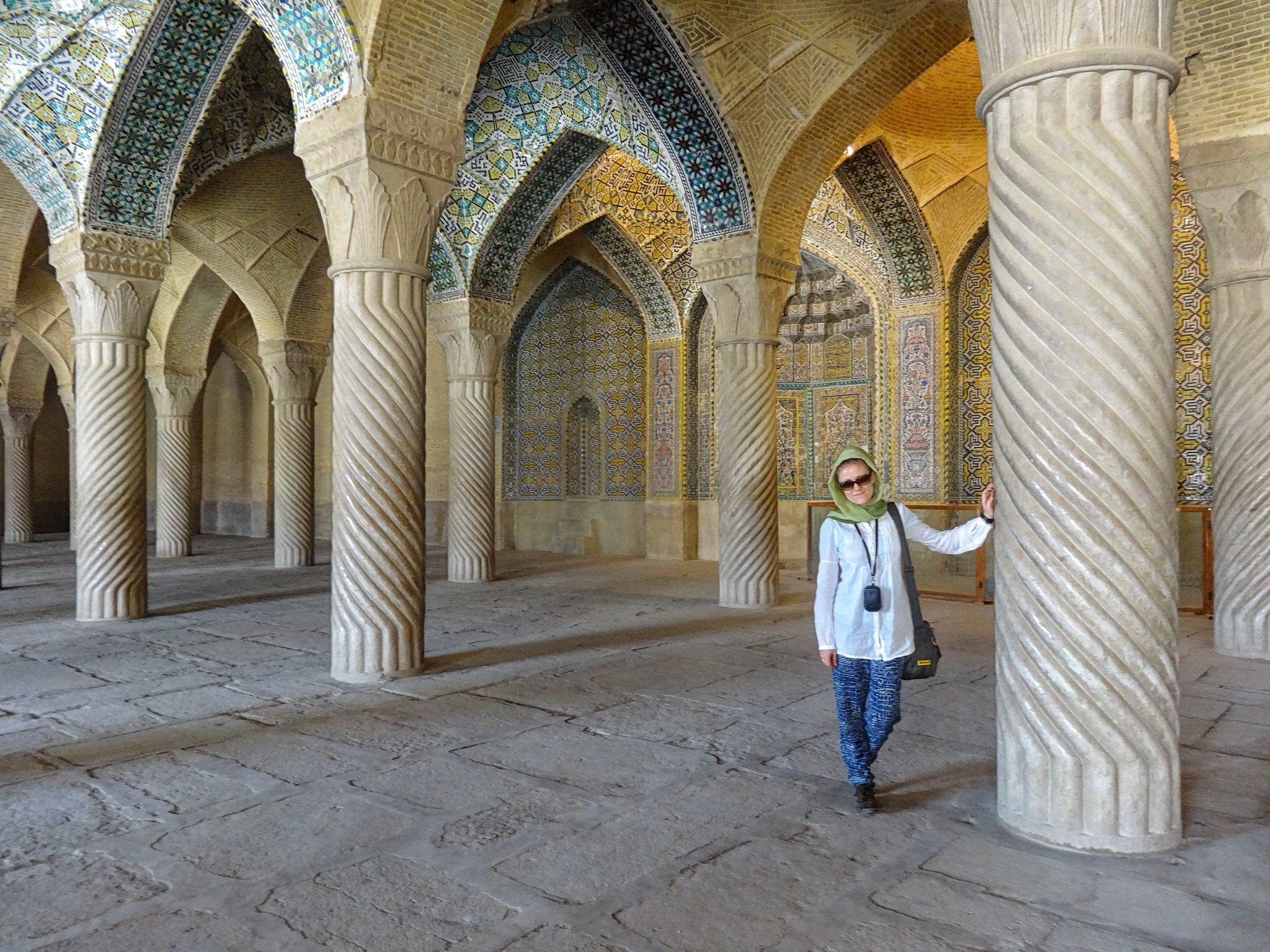 Turystka w Iranie