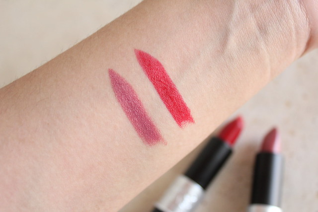 Make Up For Ever Rouge Artist Lipstick in C211 and M401 review and swatches