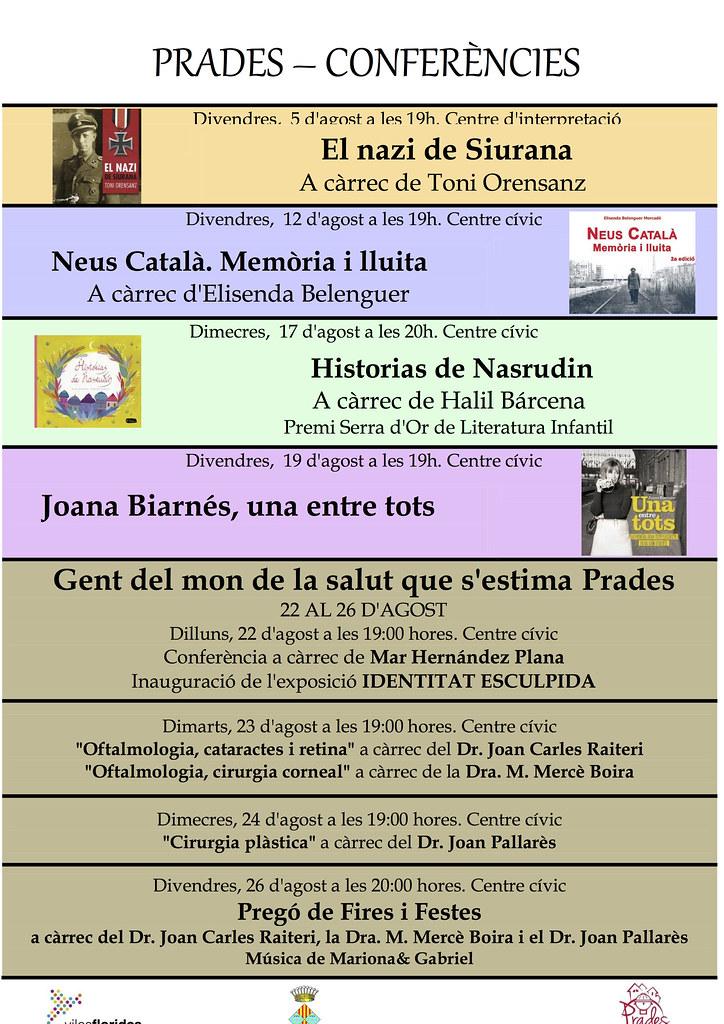 Cartell de l'acte Neus Català, memoria i lluita (Prades, 2016)
