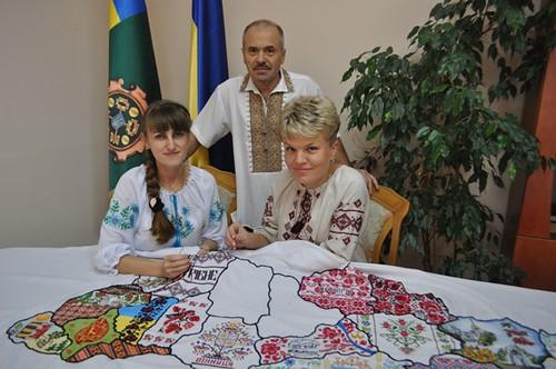 Рівненщина вже є на карті-оберегу «Вишивана моя Україна»