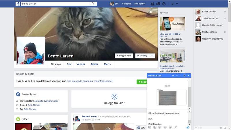 facebook ei som skriver om idar