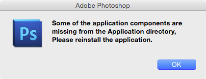 Photoshop CS5 re-install message