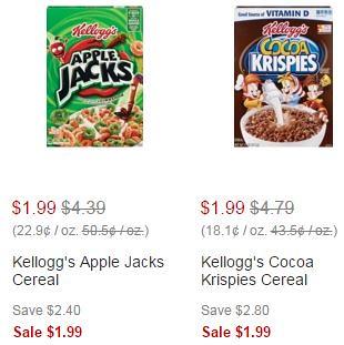 Kellogg's Breakfast Cereals at CVS