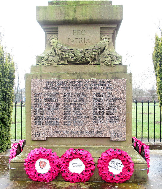East Linton War Memorial WW1 Inscription