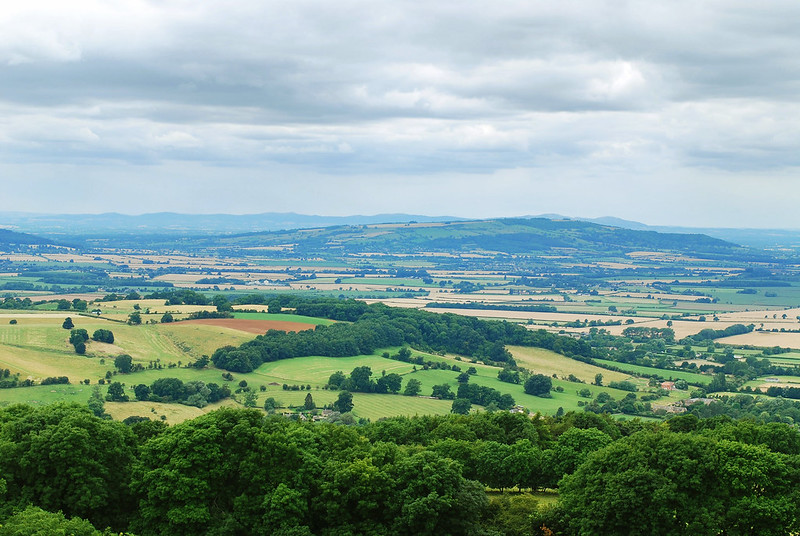 View from Broadway Tower, The Cotswolds, England UK