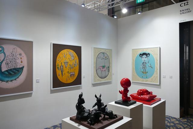 今回のフェアではジャカルタのギャラリーの出展が多いのが特徴です。(RACHEL GALLERY)