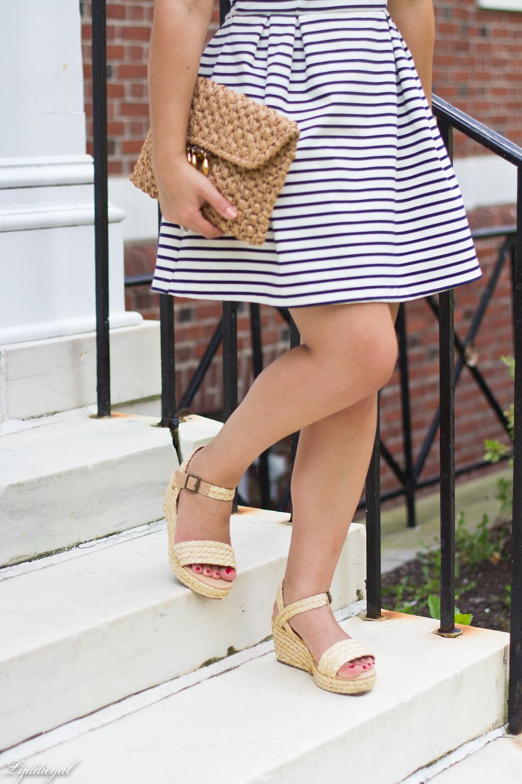 striped dress, espadrille sandals, straw clutch-15.jpg