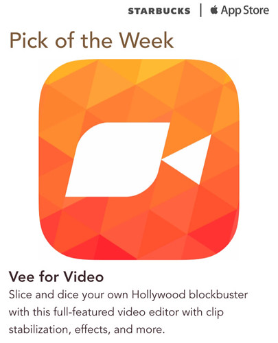 Starbucks iTunes Pick of the Week - Vee for Video