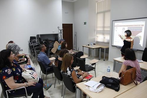 Sesión sobre Innovación en la UNIA a visitantes de la Universidad de Cagliari y de la Austral de Chile