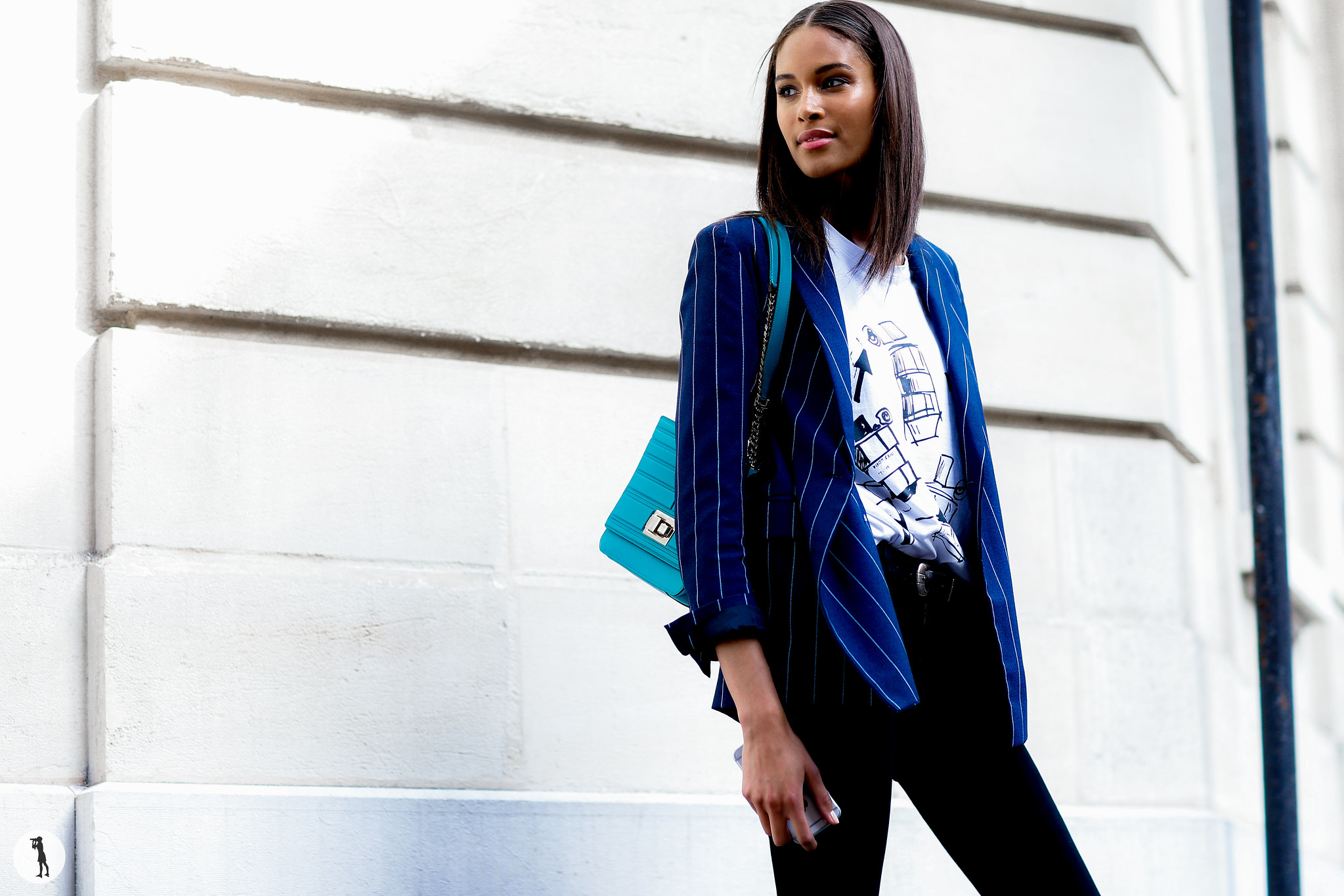 Model Cindy Bruna - Paris Fashion Week Menswear SS17 (1)