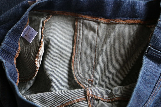 セシール 大きいサイズ ニットデニムスキニーパンツ スマートニットジーンズ