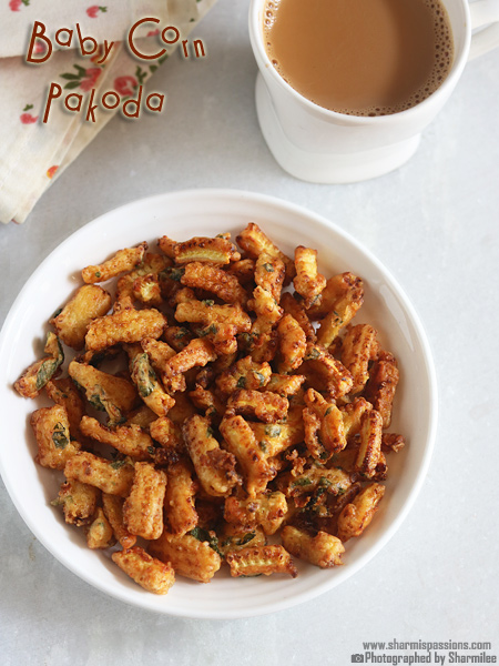 Baby Corn Pakoda Recipe