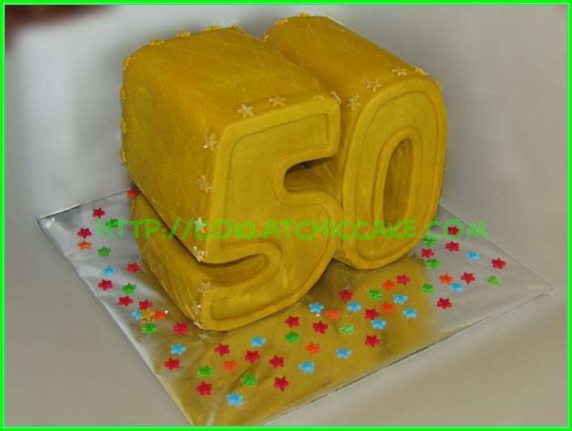 Cake Angka 50
