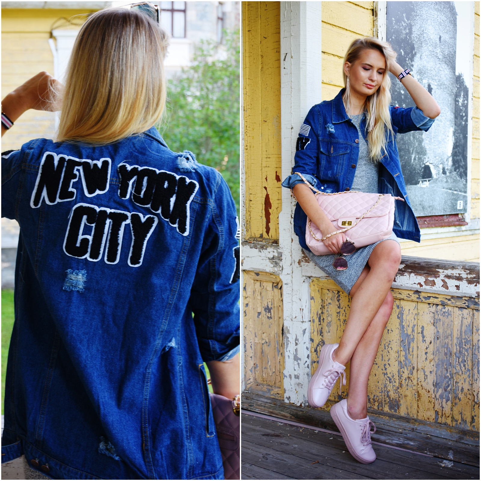 New York city denim jacket