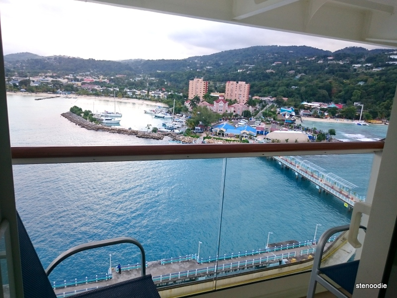 Ocho Rios from the cruise balcony