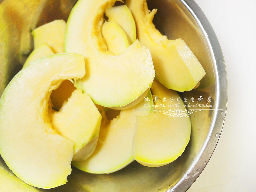 孤身廚房-烤鮭魚排佐香料烤南瓜及蒜香皇宮菜7