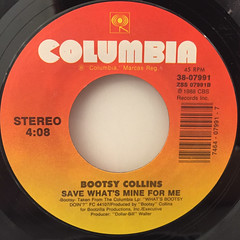 BOOTSY COLLINS:PARTY ON PLASTIC(WHAT'S BOOTY DOIN'?)(LABEL SIDE-B)
