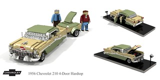 1956 Chevrolet 210 4-Door Hardtop & trailer