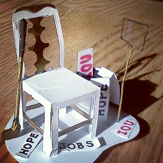 #eastwooding #emptychairday #emptychair Memorialized in #art | by charlesfettinger