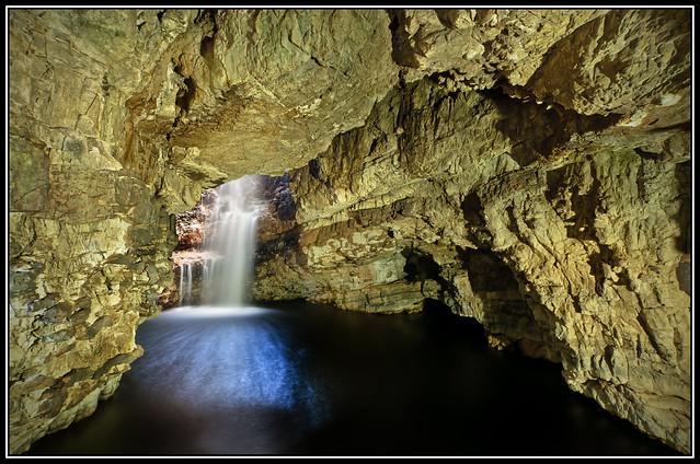 Smoo Cave waterfalls