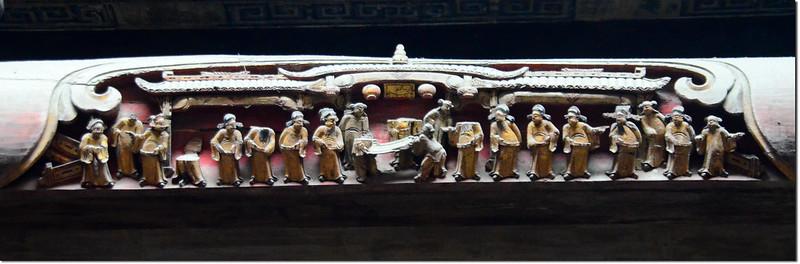 宏村承志堂木梁上的雕刻 2
