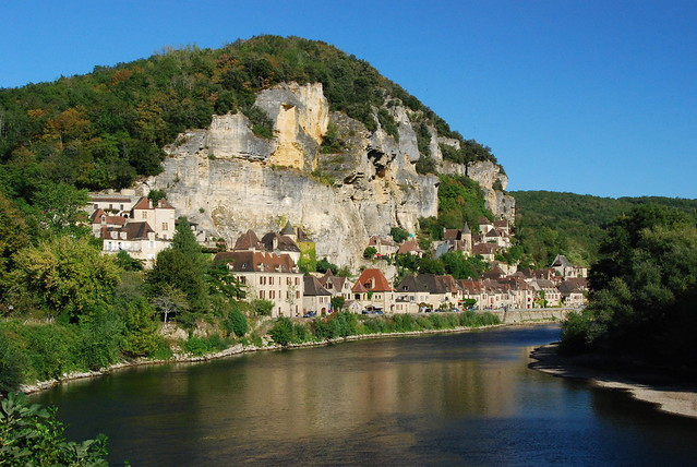 La Roque Gageac le long de la Dordogne