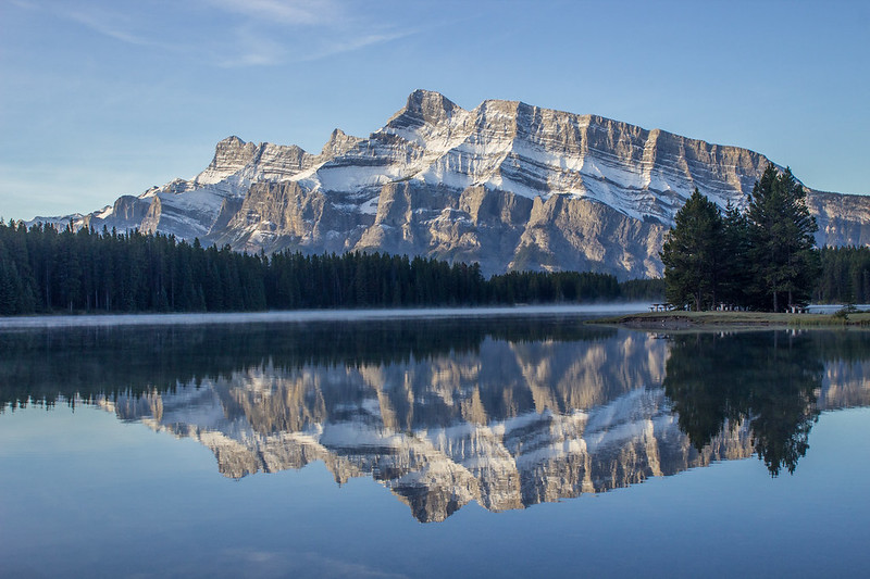 Reflection of the Rockies in Two Jack Lake