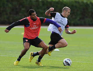 Andre Santos and Jack Wilshere | by Stuart MacFarlane