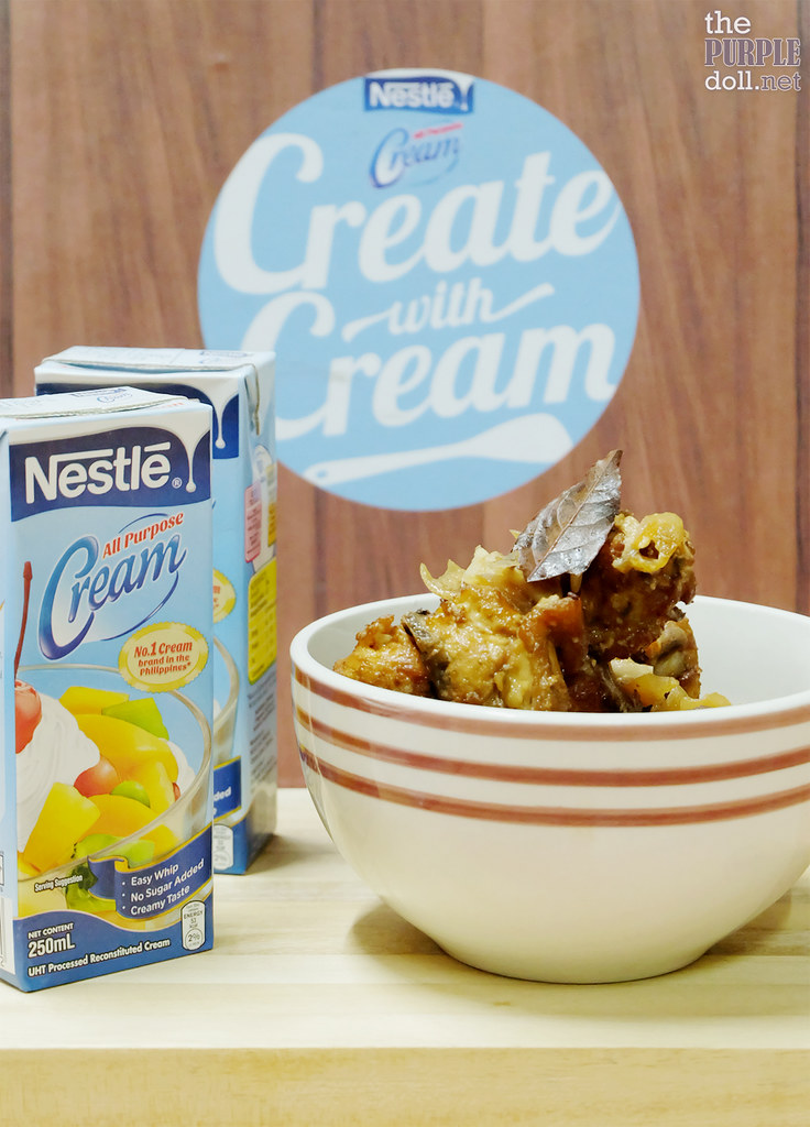 CreateWithCream Creamy Chicken Adobo