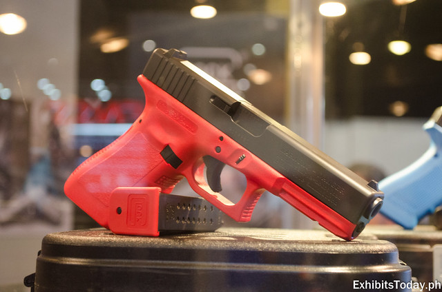 Red Glock Gun Display