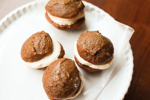 Pumpkin Whoopie Pies w/ Salted Caramel Buttercream | by niftyfoodie