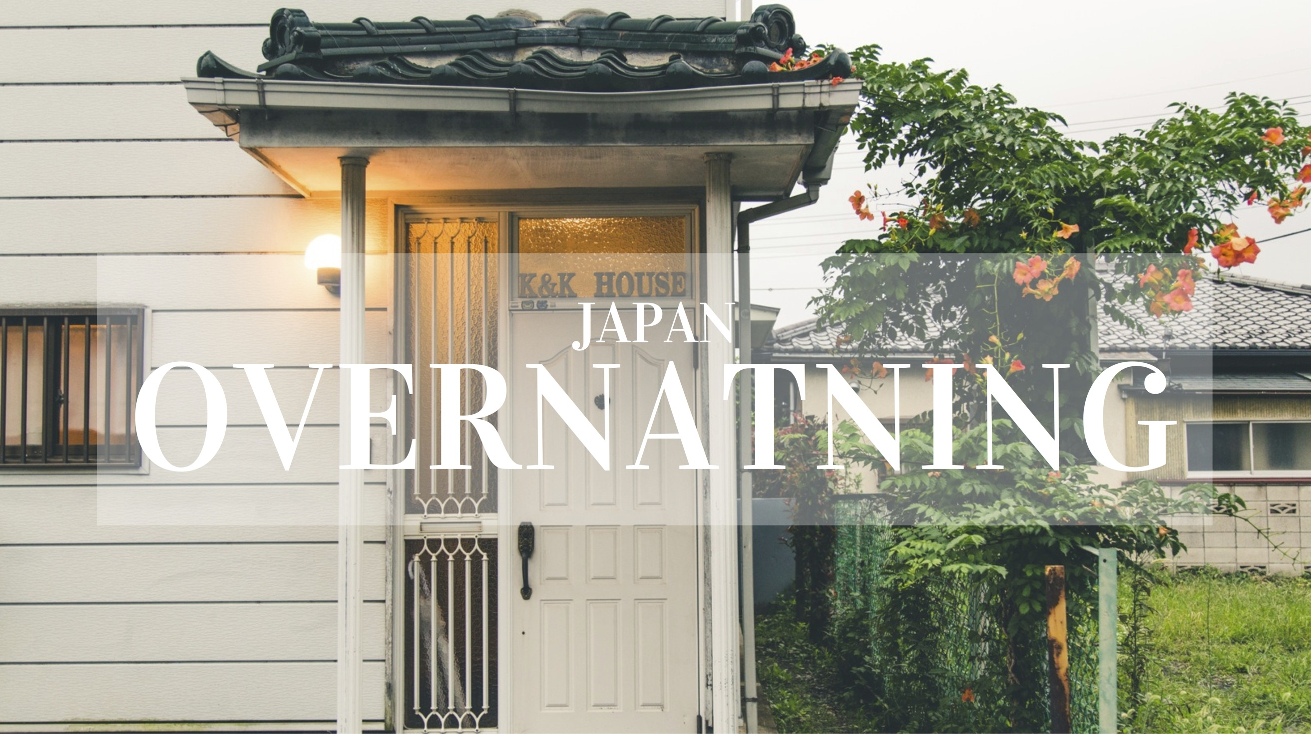 Rejsebudget Japan Overnatning