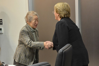 UN Women Executive Director Michelle Bachelet meets with Sadako Ogata, Special Advisor to the Japan International Cooperation Agency (JICA) | by UN Women Gallery