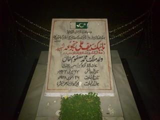 Neik Saif Ali Janjua Shaheed Nishan e Haider - Gravestone