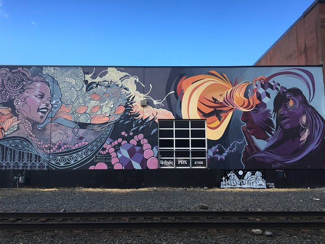 Ashley Montague and Joshua Mays mural Portland, Oregon