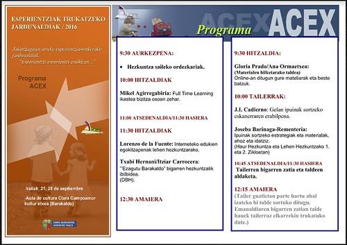VII Jornadas de Intercambio ACEX 2016 en Bizkaia