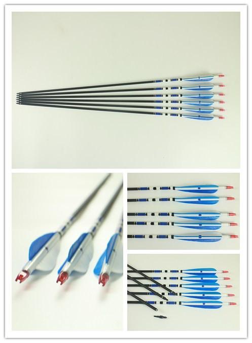 frecce in carbonio per arco ricurvo