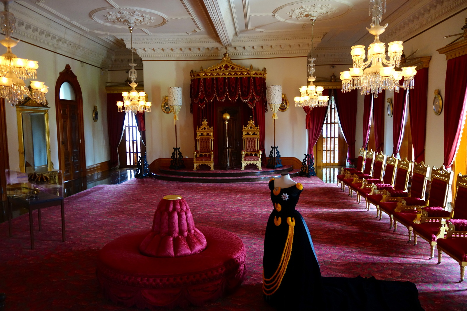 Throne Room, King Kalākaua and Queen Lili'uokalani. From Digging Deeper into Hawaiian History on the Hawai'i Monarchs Tour