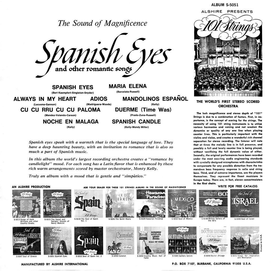 101 Strings - Spanish Eyes