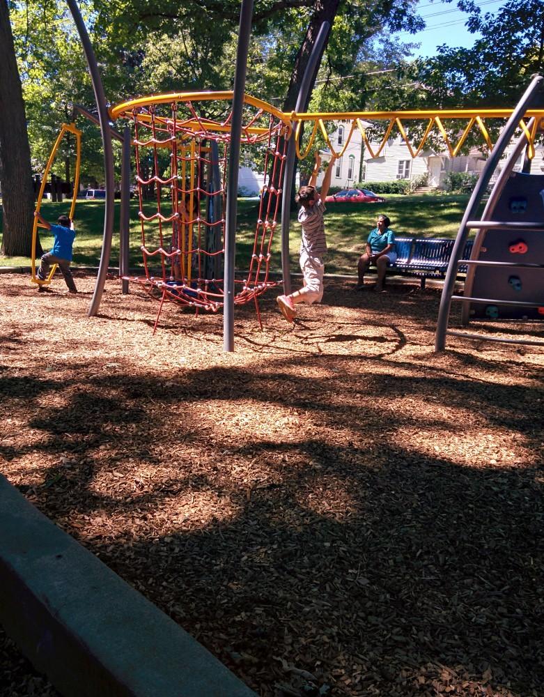 Children's playground in Bradbury Park