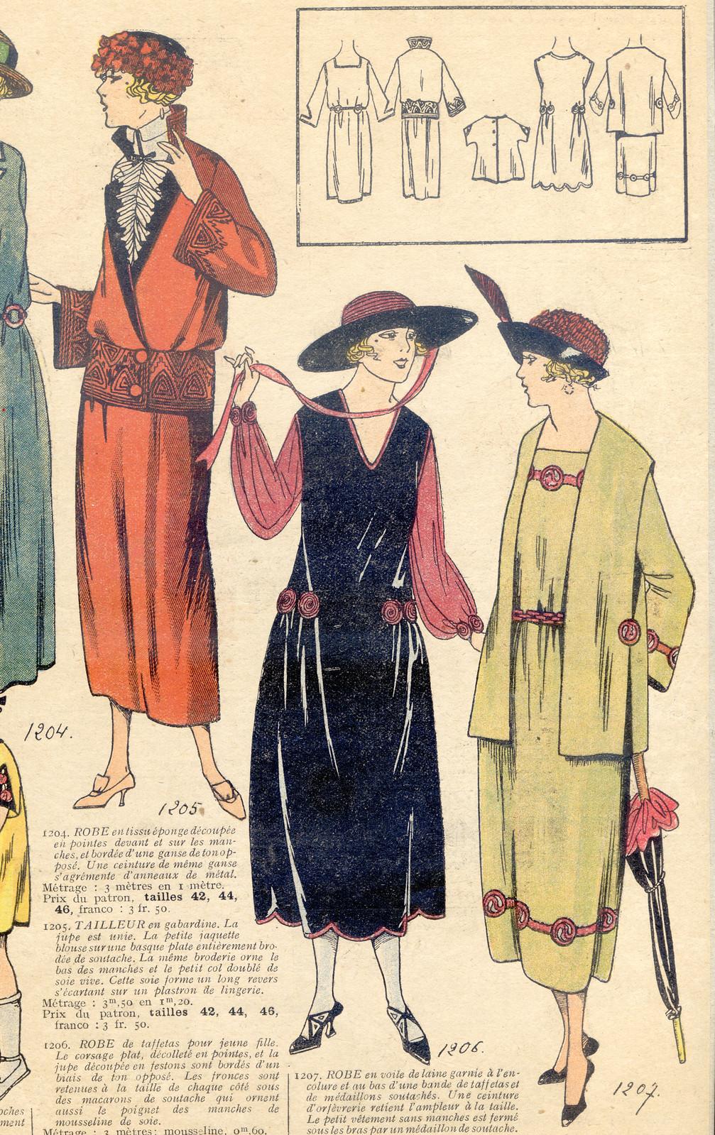 Les Dernières Modes de Paris, mode des Années Folles