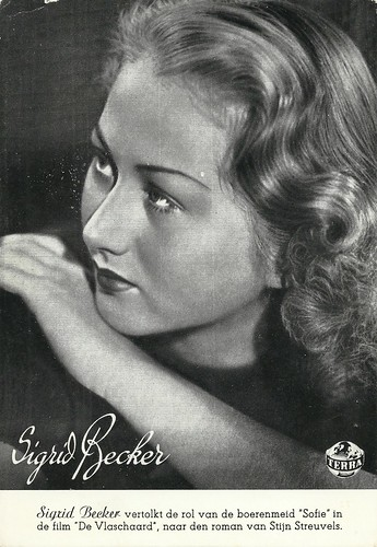 Sigrid Becker in De Vlaschaard (1943)