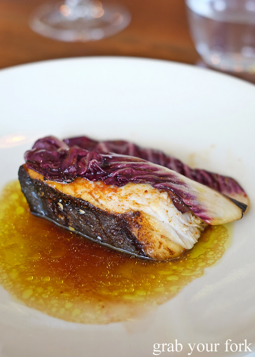 Spanish mackerel beneath the radicchio at Sixpenny in Stanmore