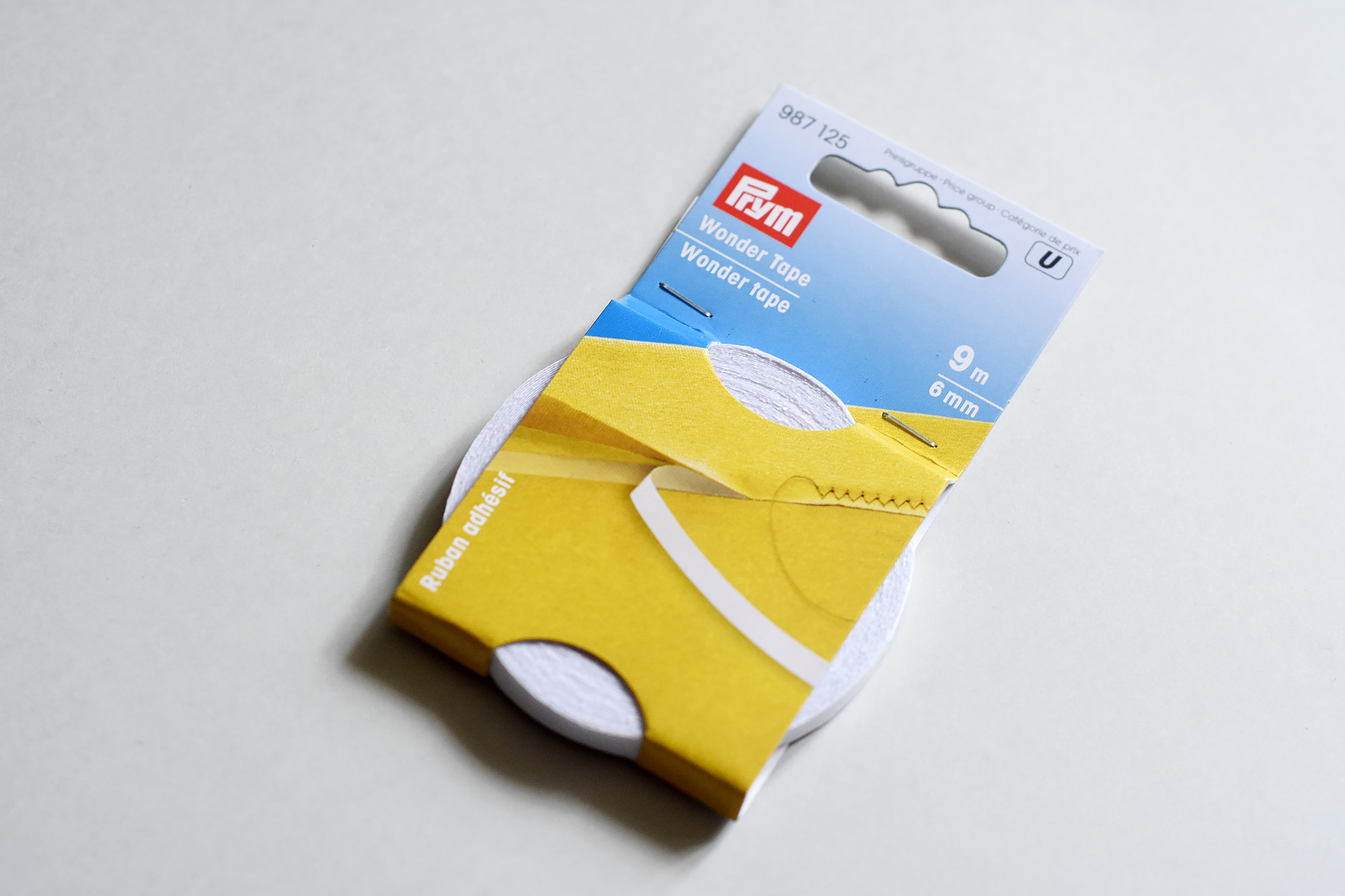 Using Prym double sided tape for waistbands