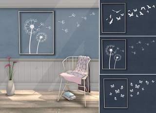 {what next} 'Flyaway' Wall Art (white) | by What Next/Winter Thorn