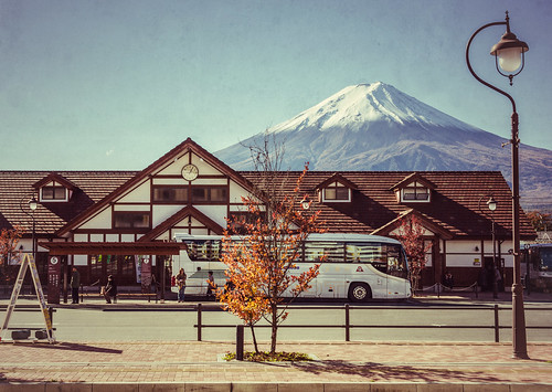 Kawaguchiko Station & Mt Fuji