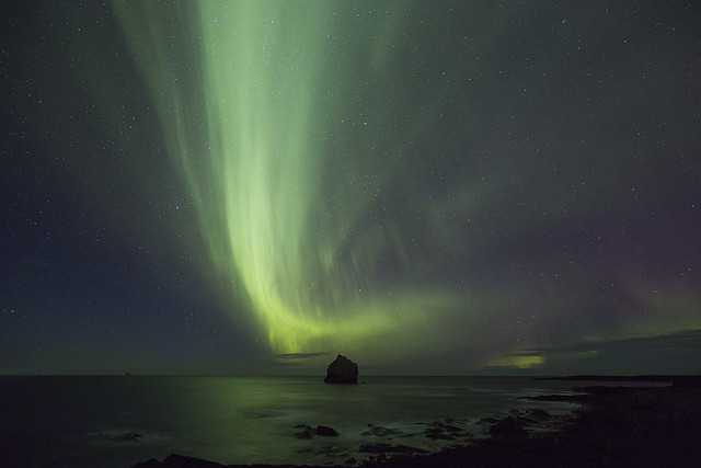 "The rock ""The Man - Karlinn"" at Reykjanes"