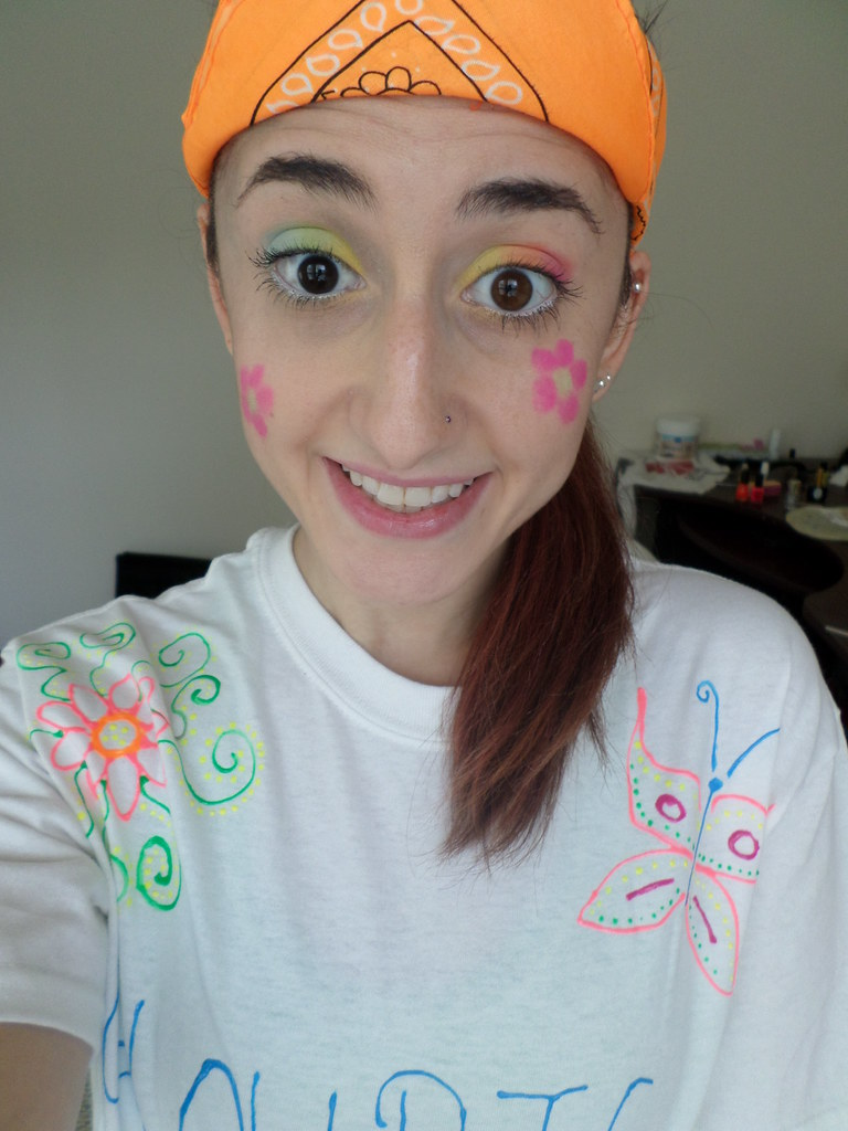 Makeup for a glow run 5k