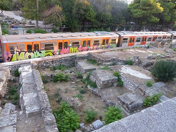 le métro pour le Pirée