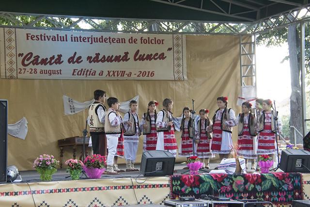 """GRUPUL FOLCLORIC """"OMĂTUȚA"""" al Casei de Cultură Tecuci - la Festivalul """"Canta de Rasuna Lunca"""" Tecuci - 2016"""
